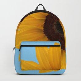 Giant sunflower, blue sky Backpack