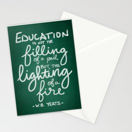 Lighting A Fire Stationery Cards