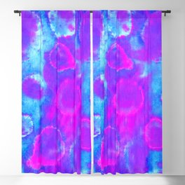 Multicolored Tie-Dye Orbs Blackout Curtain