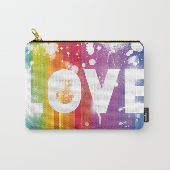 For Love - White Background Carry-All Pouch