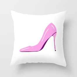 High heels,stiletto shoes drawing.Stay classy  Throw Pillow