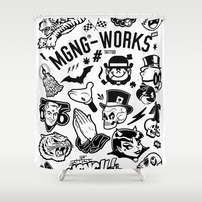 MGNG WORKS TATTOO Shower Curtain By Mgng