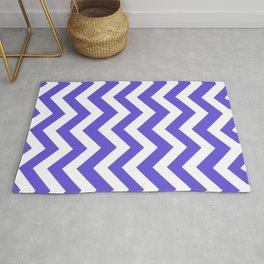 Majorelle blue - blue color - Zigzag Chevron Pattern Rug