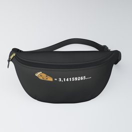 Cute Pie Short Pi Number white Fanny Pack