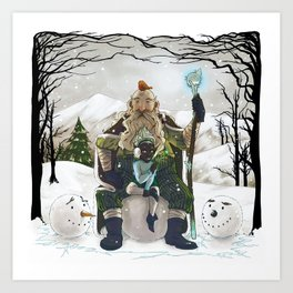 Witch and Wizard of Winter Art Print