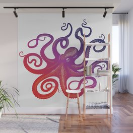 head footed in violet Wall Mural