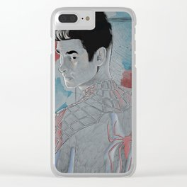 Andrew Garfield Peter Parker Clear iPhone Case