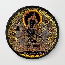 Manjushree Black Gold Thangka Wall Clock