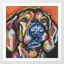 Fun Plott Hound Dog Portrait bright colorful Pop Art by wilddogs
