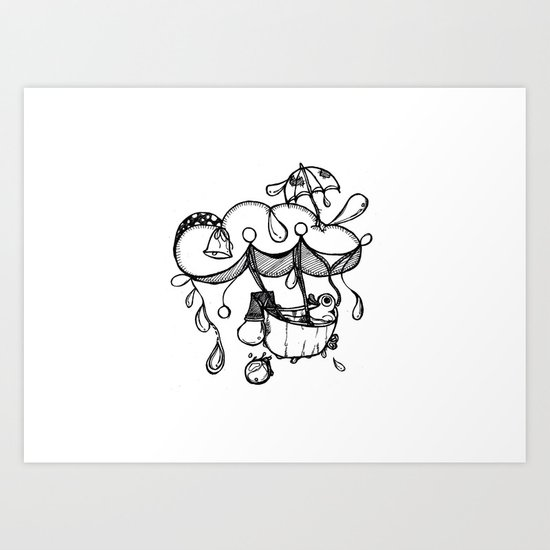 It's raining Art Print