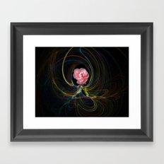 Smokey Pink. Framed Art Print