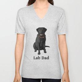 Lab Dad Black Labrador Retriever Unisex V-Neck