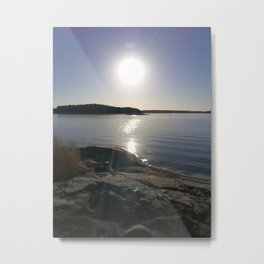 Soft reflections Metal Print