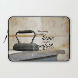 Jane Austen Quote Staying Home Real Comfort Laptop Sleeve