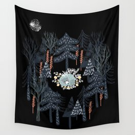 fairytale night forest Wall Tapestry