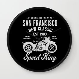 authentic motorcycle Wall Clock