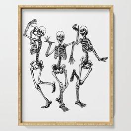 Three Dancing Skulls Serving Tray
