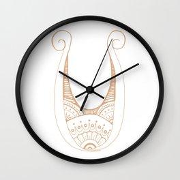 Fancy U Wall Clock