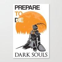 dark souls Canvas Prints featuring Dark Souls by billydragon77
