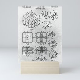Rubik cube Mini Art Print