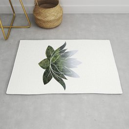 Forest Photography Lotus Rug