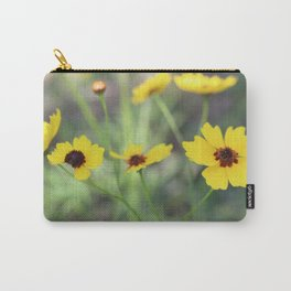 Pretty Yellow Flowers Carry-All Pouch