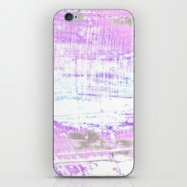 Purple and White Hue Abstract iPhone Skin