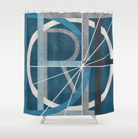 detroit Shower Curtains featuring Detroit by Katrina Berlin Design