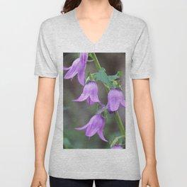 Blue bellflower Unisex V-Neck