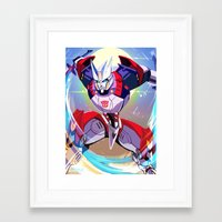 transformers Framed Art Prints featuring Transformers: Drift by Esuerc Voltimand