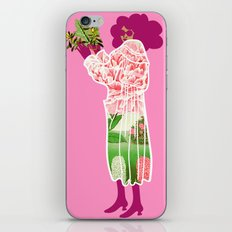 Floral Coat Pink iPhone & iPod Skin
