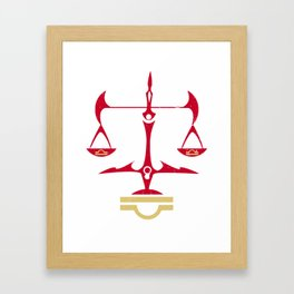 Libra Zodiac, The Scales of Justice | Divine Law Symbol Framed Art Print