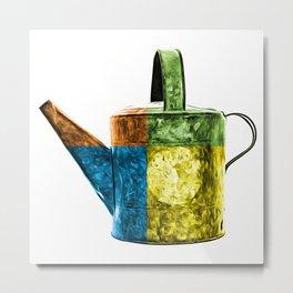 Watering Can Pop Art Metal Print