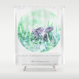 Rana temporaria Shower Curtain