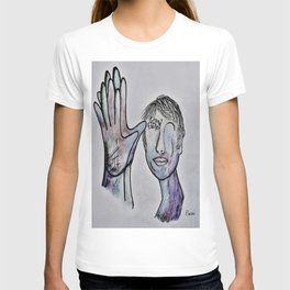 ASL Grandfather in Denim Colors T-shirt