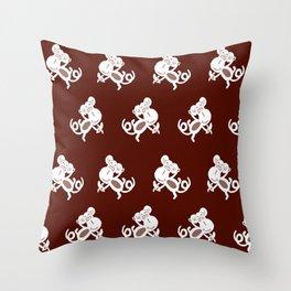 NURSERY ANIMAL MONKEY PRINT Throw Pillow
