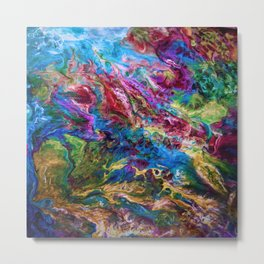 Calypso Abstract Painting by OLena Art Metal Print