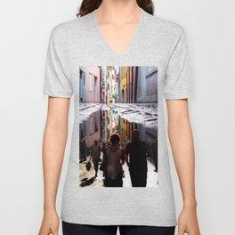 A Reflection of City Life by GEN Z Unisex V-Neck