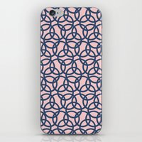 Olympic Navy on Blush iPhone Skin