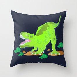 Dino - Bright Throw Pillow