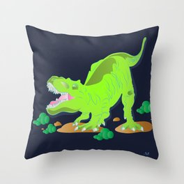Dino - Bright Throw Pillow