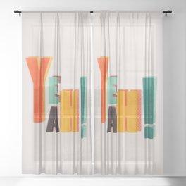 YEAH! COLORFUL TYPE Sheer Curtain