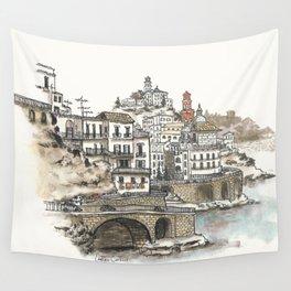 Amalfi Coast memory Wall Tapestry