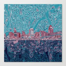 cincinnati city skyline Canvas Print