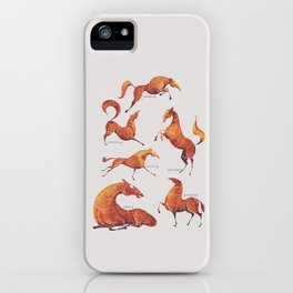 Horse poses iPhone Case