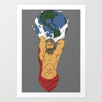 atlas Art Prints featuring Atlas  by Robert Payton