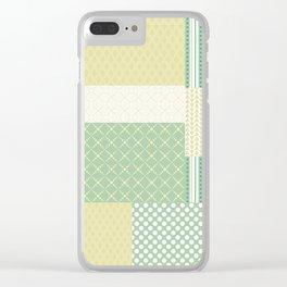 Beautiful Patch 7 Clear iPhone Case