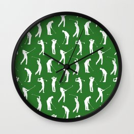 Golfers on the Fairway Wall Clock