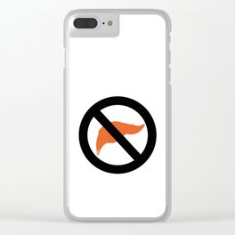 ANTI TRUMP Official logo Clear iPhone Case