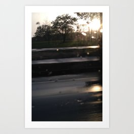 As Life Speeds By Art Print